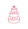 wedding cake icon design template isolated vector image vector image