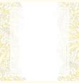 white chrysanthemum flower banner card border vector image