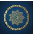 yoga ornamental gold emblems biljna arabeska and vector image vector image