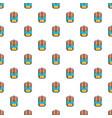 backpack schoolbag pattern seamless vector image