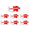 Discount labels with star vector image