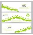 Set of elegant web eco banners vector image