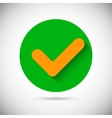 Tick check sign flat icon vector image