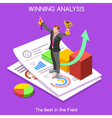 Business 12 People Isometric vector image