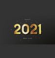 2021 happy new year holiday card vector image vector image