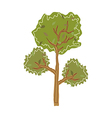 A tree stand on vector image vector image