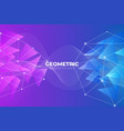 abstract futuristic gradient geometric triangle vector image vector image