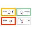acrobat characters performing gymnastics elements vector image vector image
