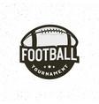 american football logo sport emblem badge vector image vector image