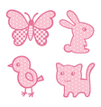 Applique prints for baby girls set vector image