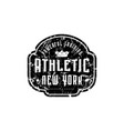 athletic emblem for t-shirt sticker and tag vector image vector image