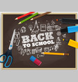 back to school concept with chalk doodle elements vector image vector image