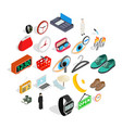 brand name icons set isometric style vector image vector image