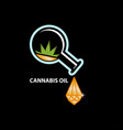 cannabis oil as crystal vector image vector image