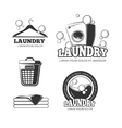 Clean laundry washing vintage labels vector image vector image