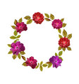 colorful flowers wreath elegant floral vector image vector image