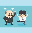 concept cartoon businessman happy positive vector image vector image