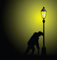 drunk man with street light vector image vector image