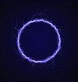 electric circle with lightning effect vector image vector image