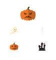 flat icon celebrate set of pumpkin fortress vector image vector image