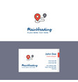 flat map route logo and visiting card template vector image