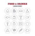 Food and Drinks icon Beer coffee and cocktail vector image vector image