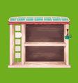 Game wooden shelf window vector image vector image