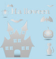 halloween paper art vector image