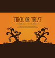 halloween with tree style background vector image vector image