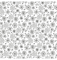 Hand drawn seamless pattern with snowflakes vector image vector image