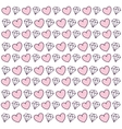 hearts pattern background isolated icon vector image