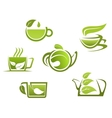 Herbal drinks and tea vector image