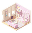 isometric children s room vector image