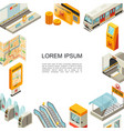 isometric metro colorful template vector image vector image