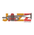 jazz live music concert icon template of vector image