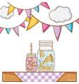 juice mason jar vector image vector image