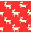 knitted christmas reindeer pattern red background vector image vector image