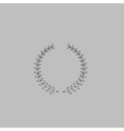 laureate wreath computer symbol vector image vector image