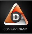 letter d logo symbol in the colorful triangle on vector image vector image