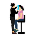 make up artist woman in a beauty salon tretmant vector image