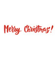 merry christmas card hand drawn lettering great vector image vector image