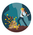 miner man modern miner businessman vector image vector image