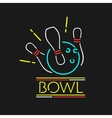 Neon Symbol Bowling Center vector image vector image