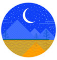 night doodle icon vector image