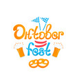 oktoberfest - bavarian festival banner with vector image vector image