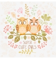 owls super cute vector image vector image