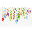 party decorations color streamers or curling party vector image vector image