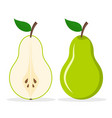 pear fresh fruit icon cartoon pear vector image