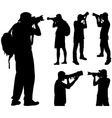 photographers silhouettes vector image vector image