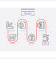 printing industry process from color selection vector image vector image